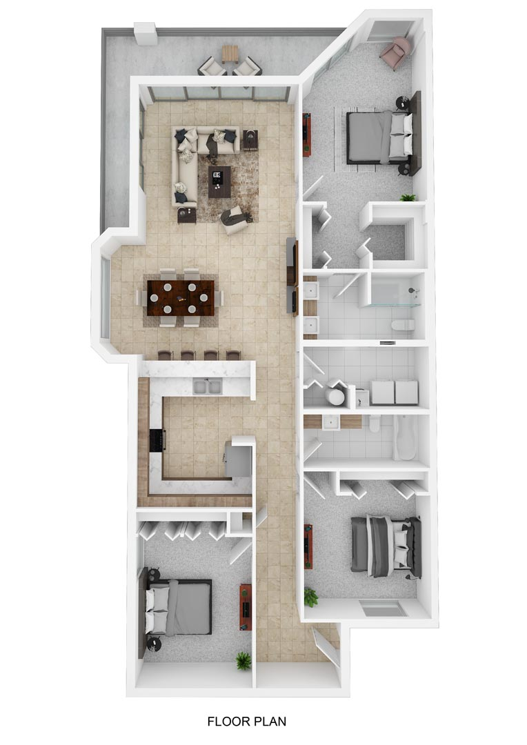 River Palms Riverfront Condos Floor Plan A
