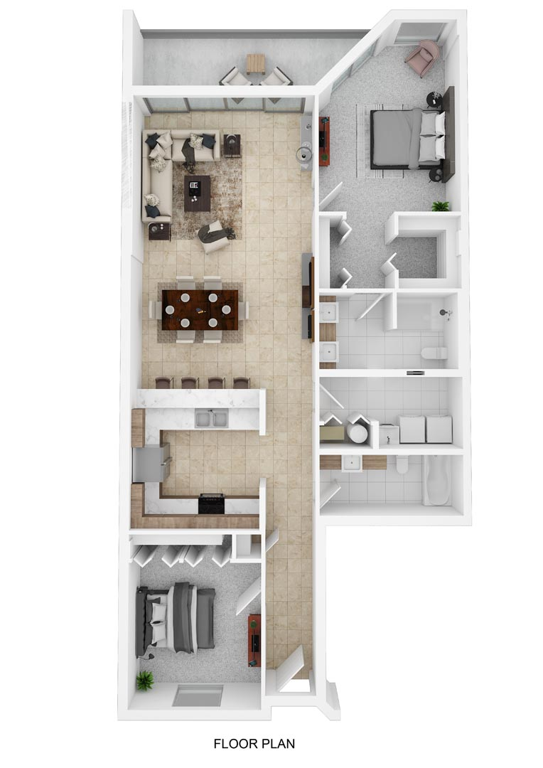 River Palms Riverfront Condos Floor Plan C