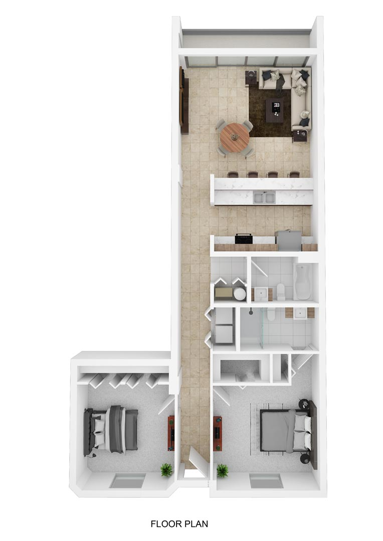 River Palms Riverfront Condos Floor Plan D