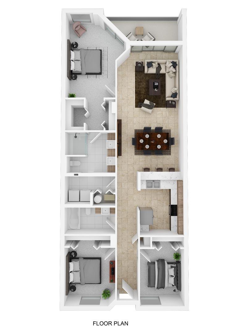 River Palms Riverfront Condos Floor Plan E