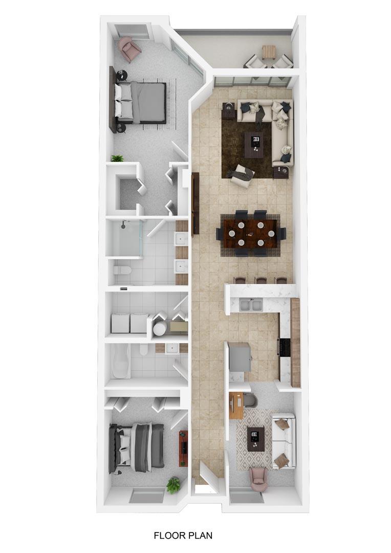 River Palms Riverfront Condos Floor Plan F
