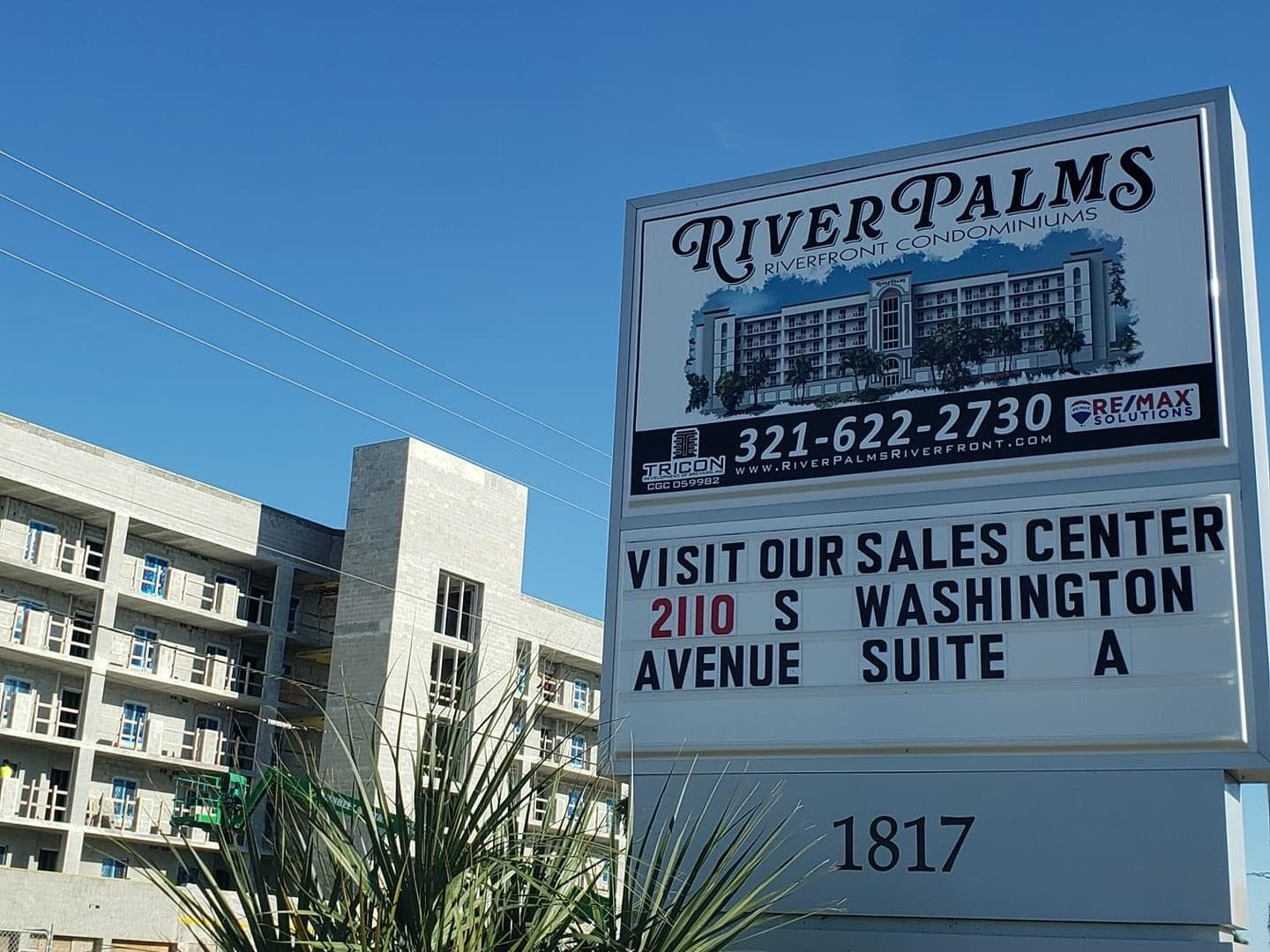 River Palms Riverfront condos in Titusville FL sales office